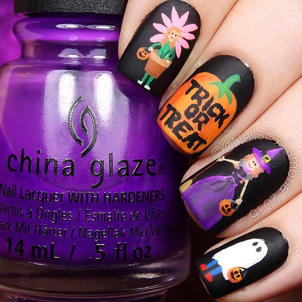 Creative Witch Halloween Nails