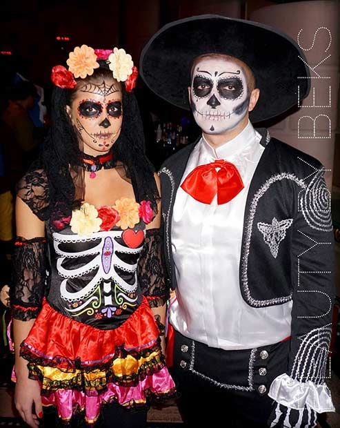 sugar skull couple halloween costume