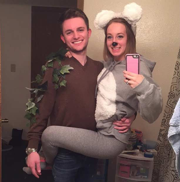 Koala Bear Easy Couple Halloween Costume