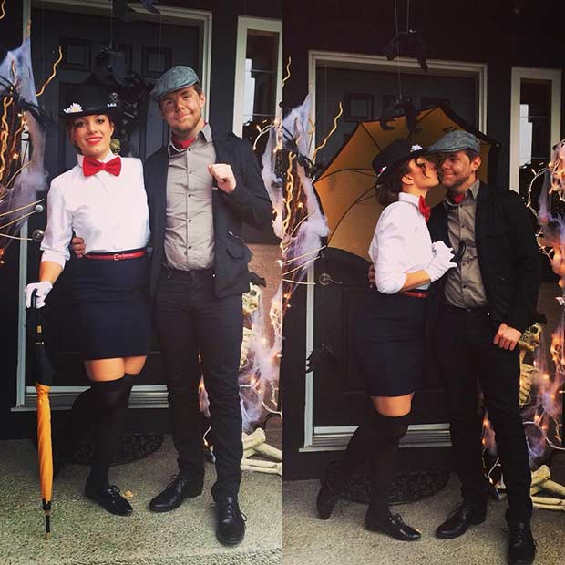 Mary Poppins and Bert Couple Costume  sc 1 st  StayGlam & 31 Creative Couples Costumes for Halloween | Page 2 of 3 | StayGlam
