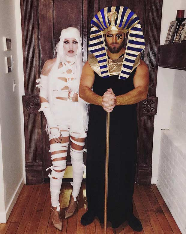 Mummy King Tut Couples Costume Idea