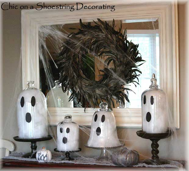 Easy DIY Halloween Ghosts Decoration