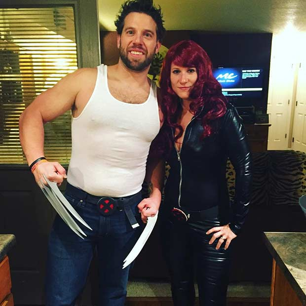 X-Men Easy Couple Halloween Costume