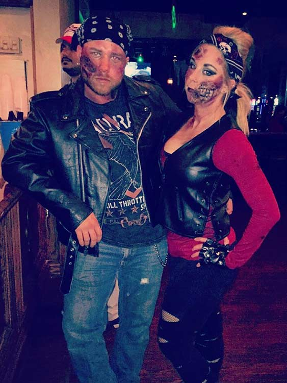 Zombie Biker Couple Halloween Costume Idea