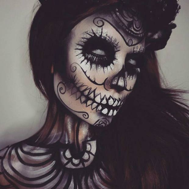 25 mind blowing makeup ideas to try for halloween stayglam. Black Bedroom Furniture Sets. Home Design Ideas