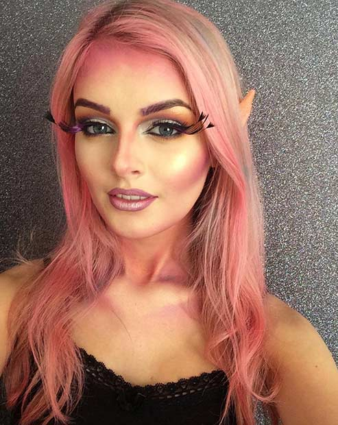 Pretty Fairy Halloween Makeup Look