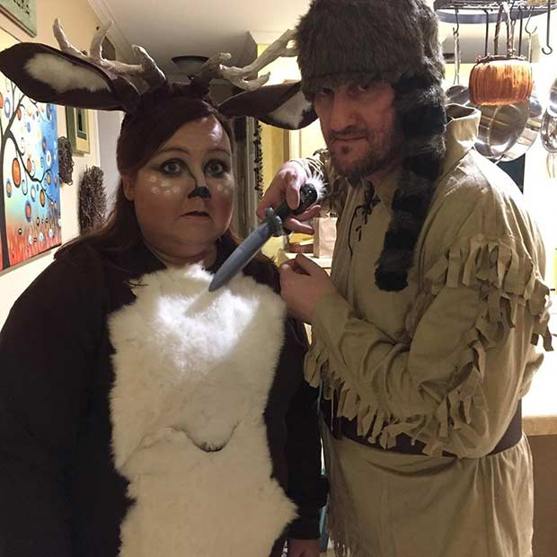 Deer and Hunter Easy Couple Halloween Costume