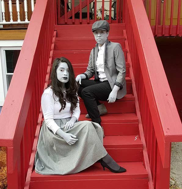 Monochromatic Halloween Costume for Couples