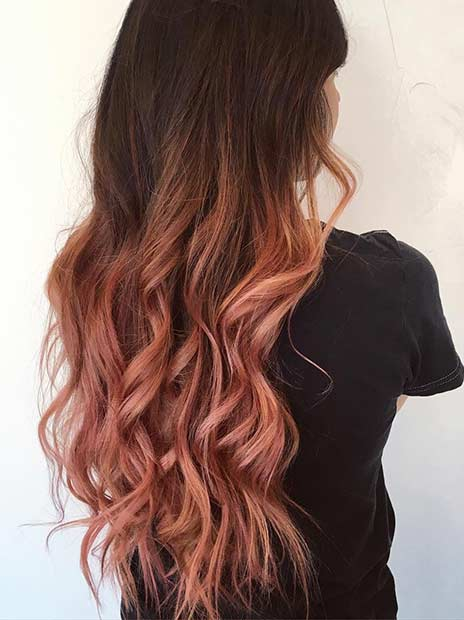 Rose Gold Hair Painting Hair