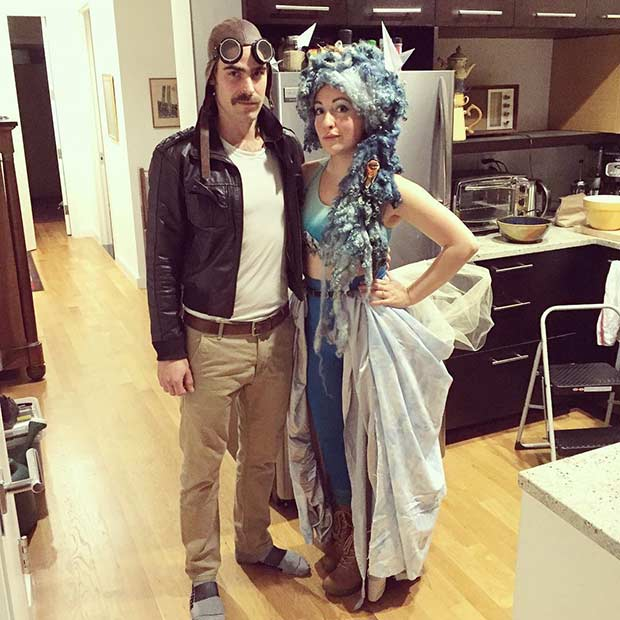 the pilot and the sky couple halloween costume instagram hannaagar its a very clever idea - Unique Girl Halloween Costume Ideas