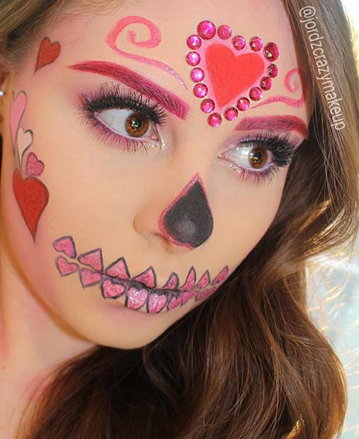 Pretty and Easy Sugar Skull Halloween Makeup