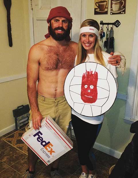 tom hanks cast away wilson couple halloween costume