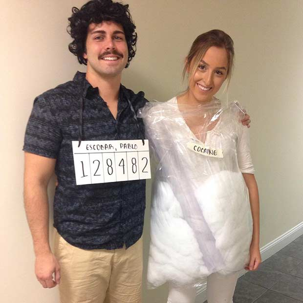 Pablo Escobar Narcos Couple Halloween Costume  sc 1 st  StayGlam & 21 DIY Couples Costumes for Halloween | Page 2 of 2 | StayGlam
