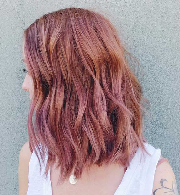23 Trendy Rose Gold Hair Color Ideas Page 2 Of 2 Stayglam