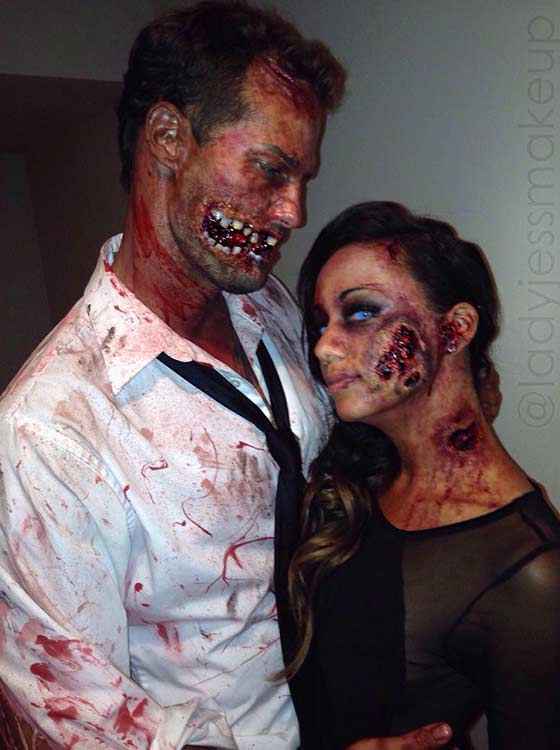 scary zombie couple halloween costume
