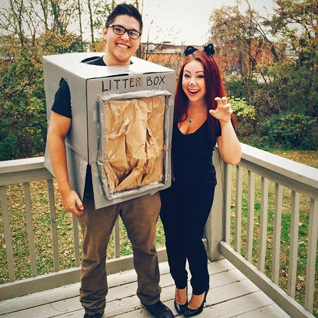 Litter Box Kitty DIY Couple Halloween Costume