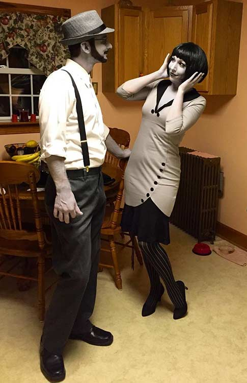 Black and White 40s Couple Halloween Costume