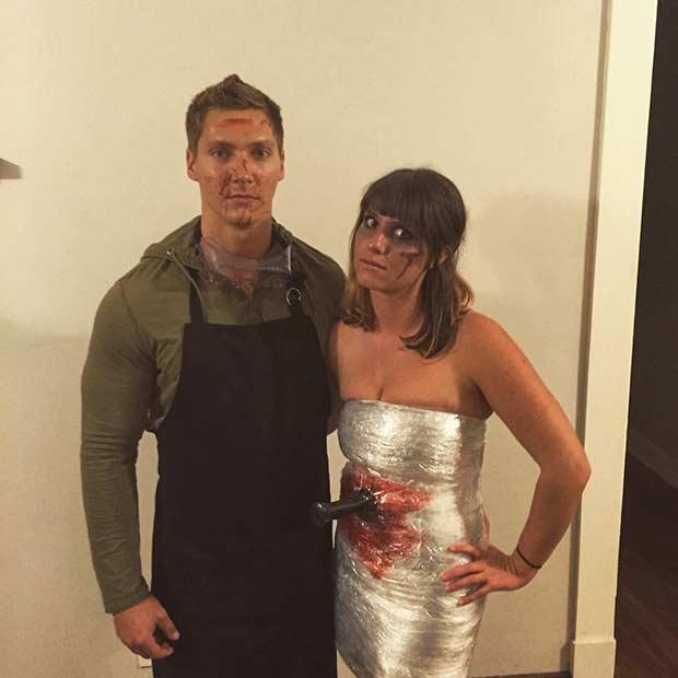 dexter and victim couple halloween costume idea