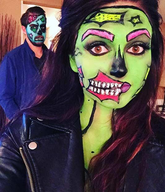 Pop Art Zombie Couple Halloween Costume  sc 1 st  StayGlam & 23 Easy Halloween Costumes for Couples | StayGlam