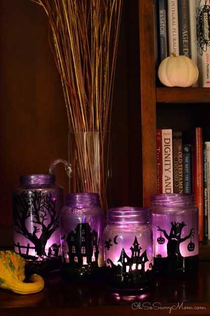 Halloween DIY Village Luminaries