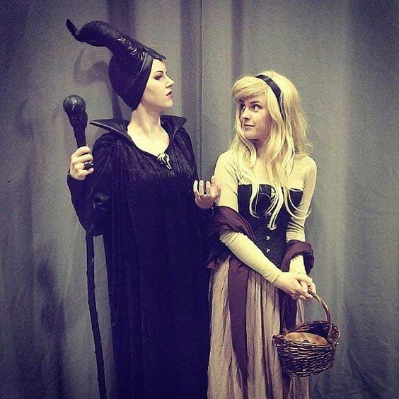 Maleficent BFF Halloween Costume Idea