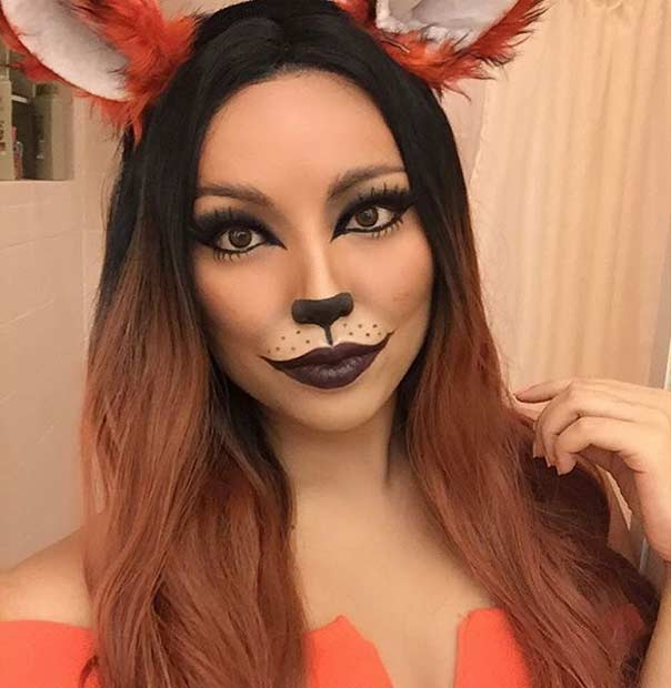 Easy Fox Halloween Makeup Look