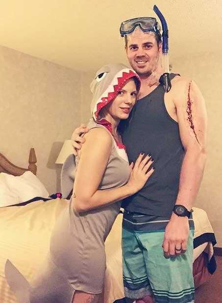 Shark Attack Couple Halloween Costume