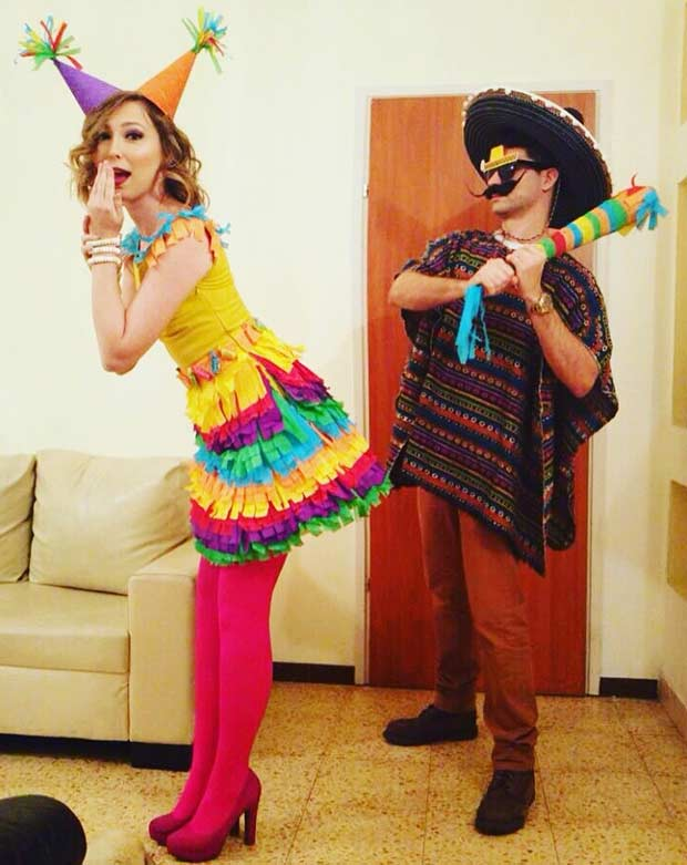Mexican and Pinata Couple Costume for Halloween