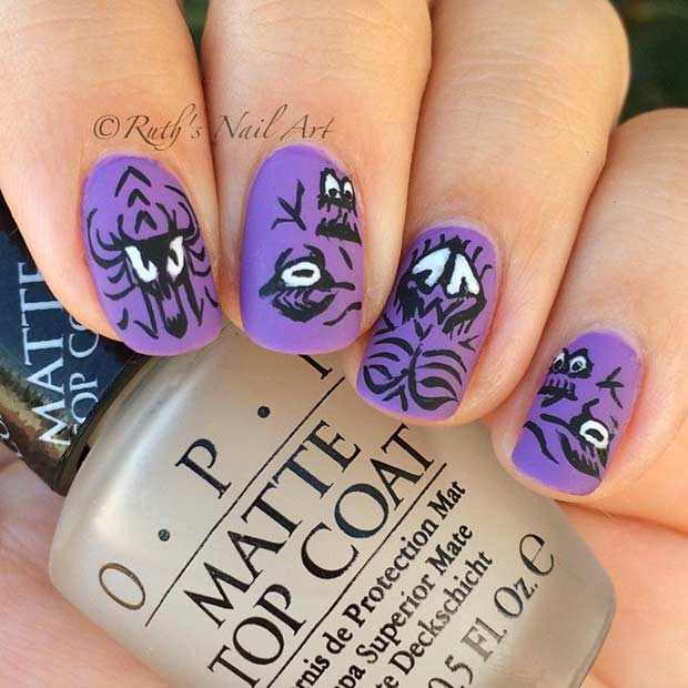 Cute Monster Nails for Halloween