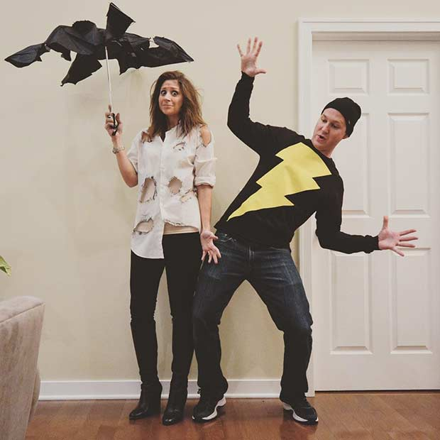 Lightning Strike Easy Couple Halloween Costume