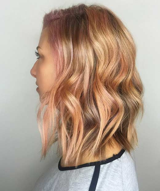 23 trendy rose gold hair color ideas page 2 of 2 stayglam peekaboo rose gold highlights solutioingenieria Images