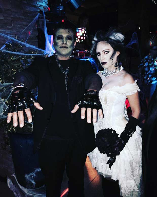 Frankenstein Couples Halloween Costume Idea DIY