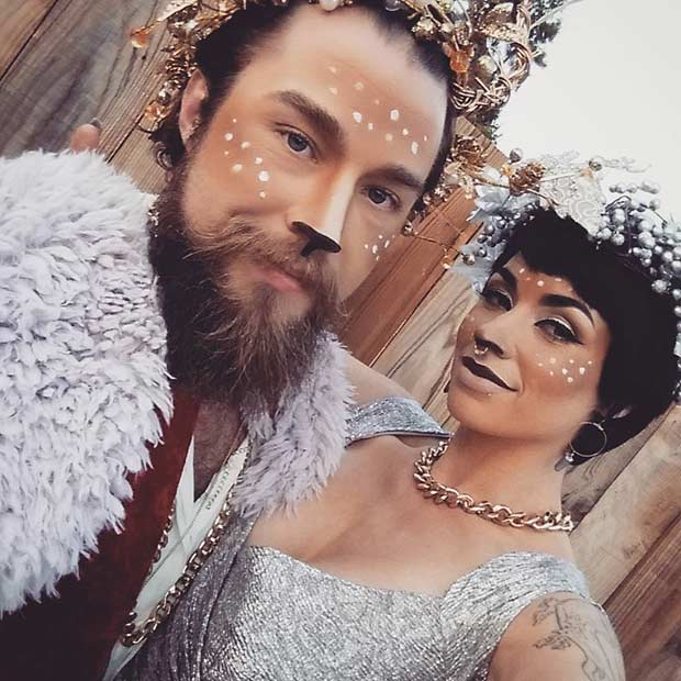 Forest King and Queen Easy Couple Halloween Costume