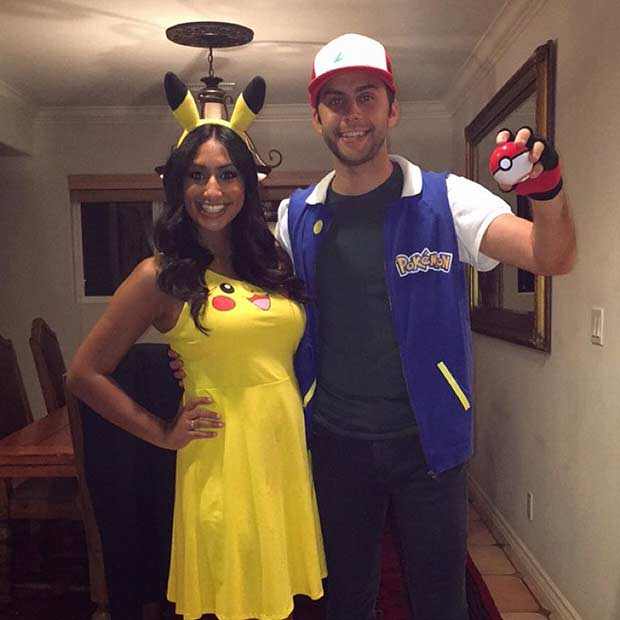 pokemon ash pikachu couples halloween costume - Halloween Costumes Idea For Couples