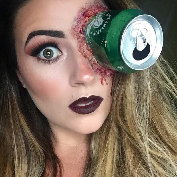 Scary SFX Can Halloween Makeup Look