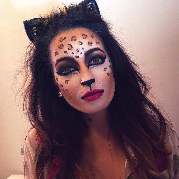 Easy and Simple Cheetah Halloween Makeup
