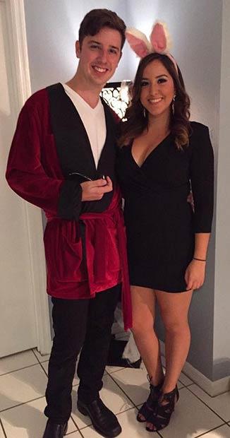 Hugh Hefner Playboy Bunny Couple Halloween Costume