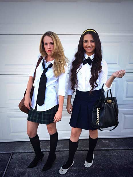 Gossip Girls BFF Halloween Costume Idea