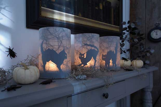 Easy Halloween Candle DIY