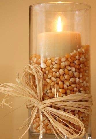 Corn Candles Easy DIY Thanksgiving Decoration