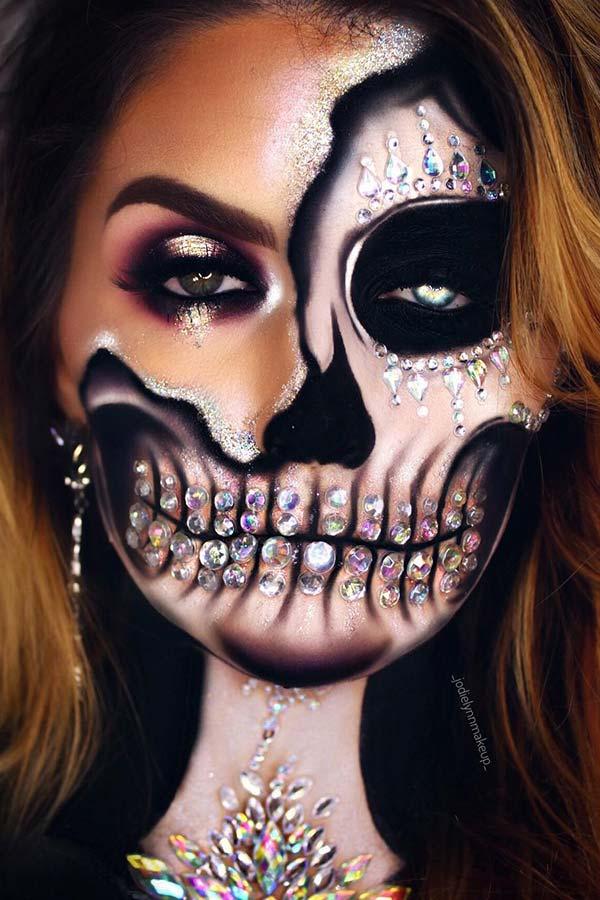 Jaw Dropping Skeleton Makeup