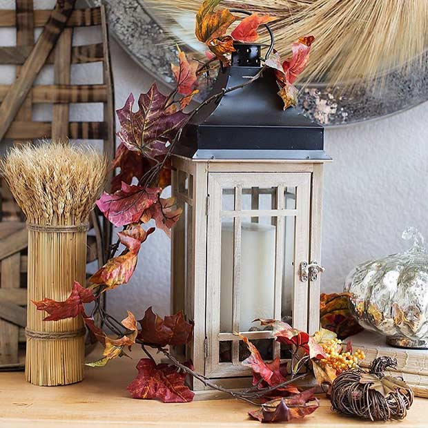 DIY Thanksgiving Lantern Centerpiece Idea