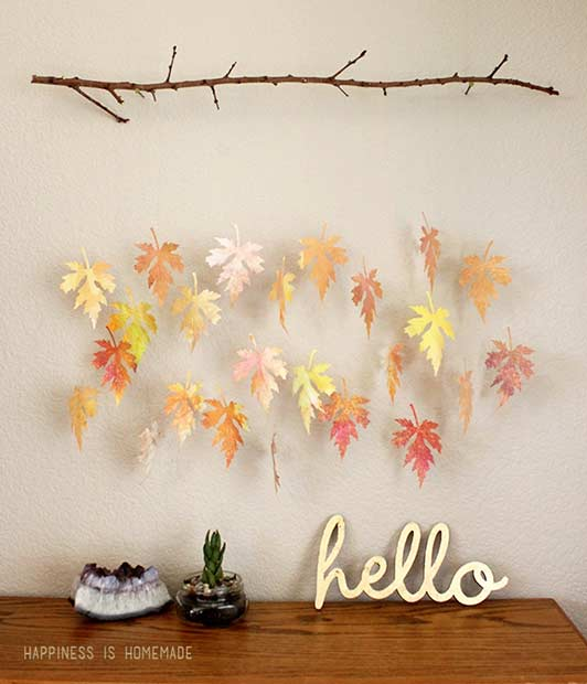Leaf and Branch Thanksgiving Decoration Idea