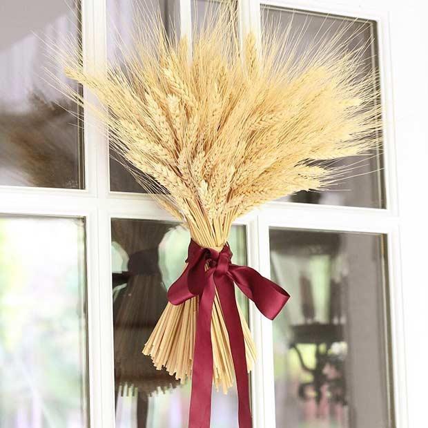 Easy Thanksgiving Door Wreath