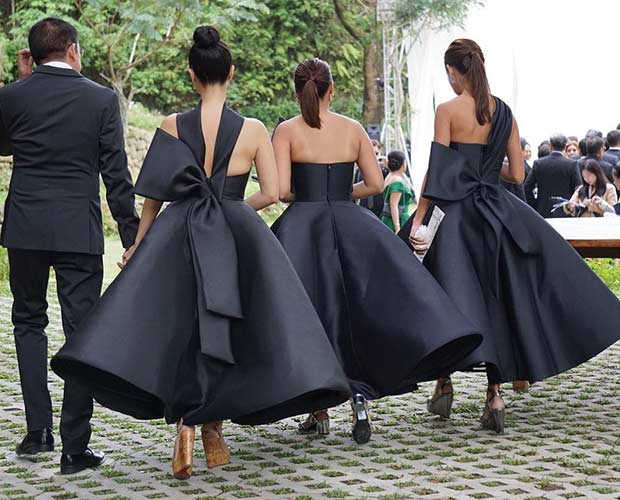 Unique Black Bridesmaid Dresses