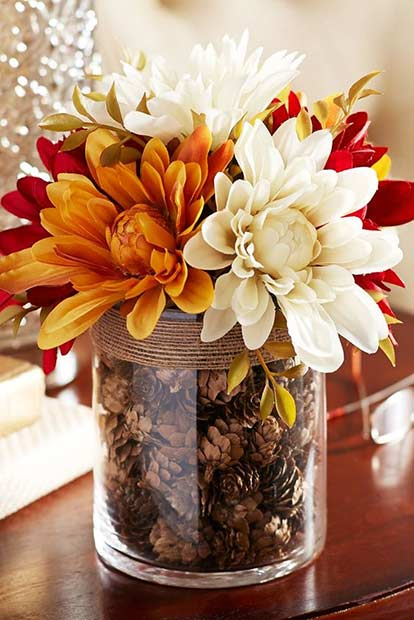 DIY Thanksgiving Vase Centerpiece