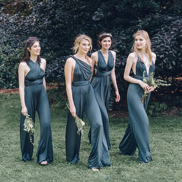 Bridesmaids in Jumpsuits