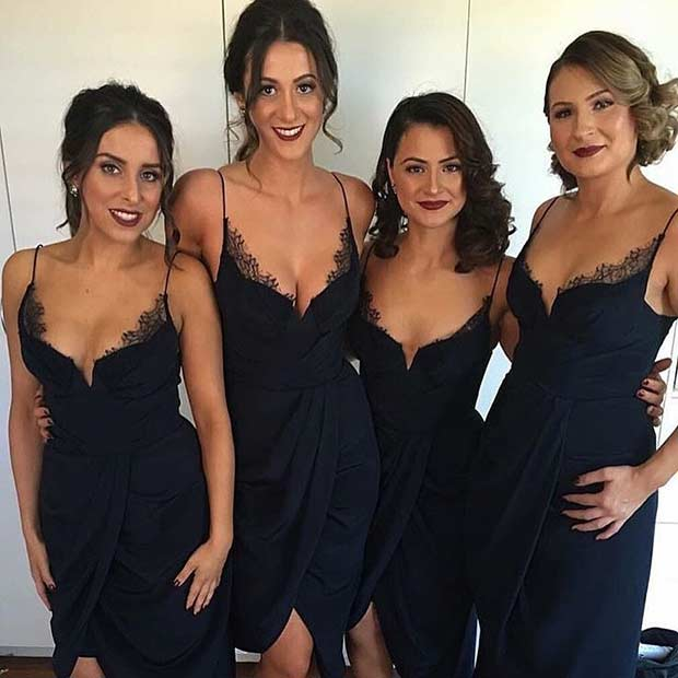 Sexy Lace Bridesmaid Dresses