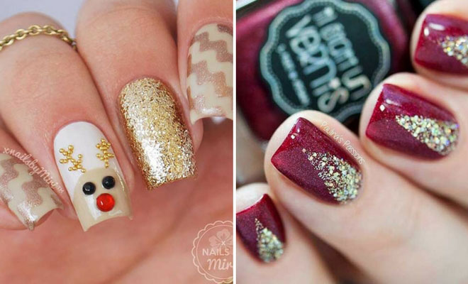 49 Easy Winter and Christmas Nail Ideas - 49 Easy Winter And Christmas Nail Ideas StayGlam