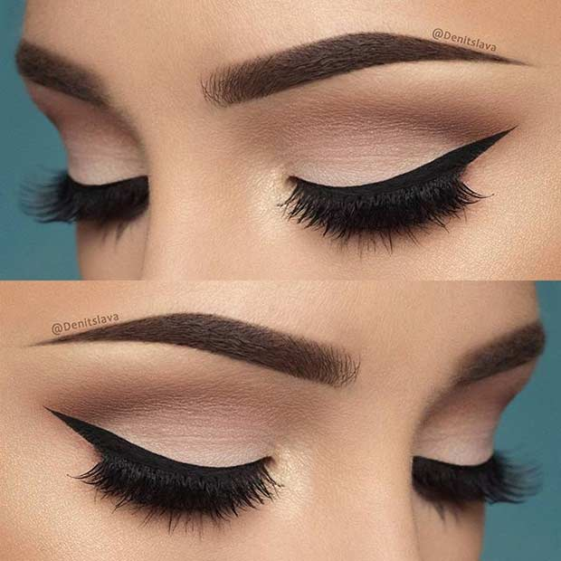 Neutral Makeup Look and Winged Liner